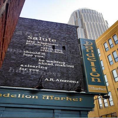 """""""Salute"""" by A.R. Ammons, design by Jennifer Garrison (Dandelion Market)"""