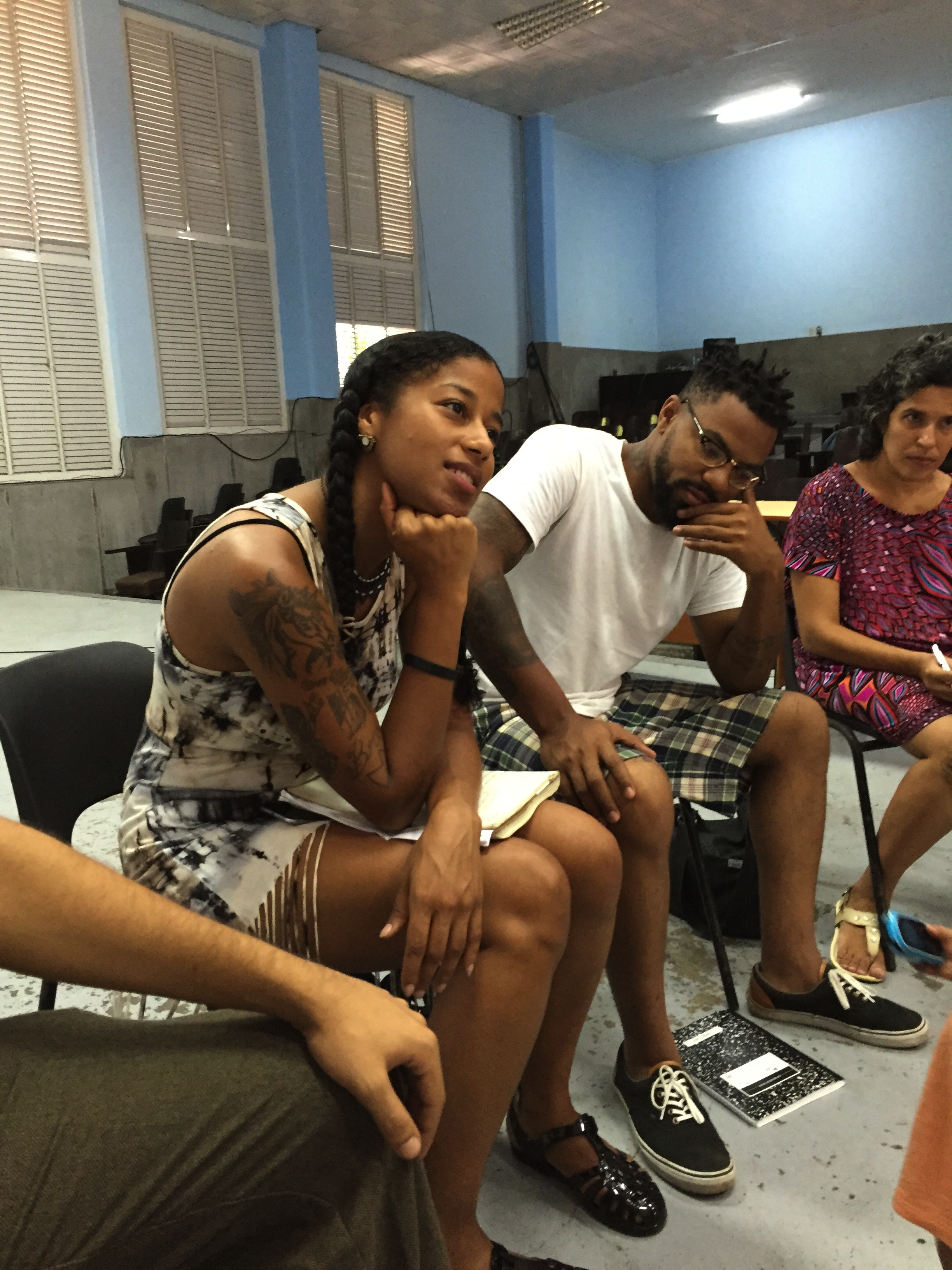 Poets participate in a breakout session at the University of Havana for the Zonas Poeticas Spoken Word Festival